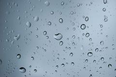 Goccioline di acqua su vetro Immagini Stock Libere da Diritti