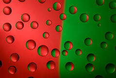 Goccioline di acqua sul vetro Fotografia Stock Libera da Diritti