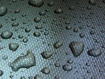Goccioline su metallo Fotografia Stock