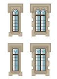Goccy okno ustawiający ilustracji