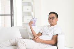 Goce asiático del varón Imagen de archivo libre de regalías