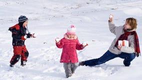 Goce de la primera o pasada nieve Fotografía de archivo