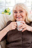 Goce de té caliente Fotografía de archivo libre de regalías