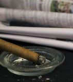 Goce de un cigarro Foto de archivo libre de regalías