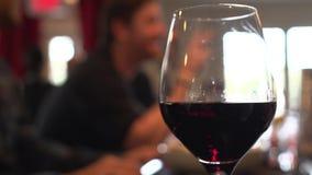 Goce de un vidrio de vino con los amigos (1 de 2) almacen de metraje de vídeo