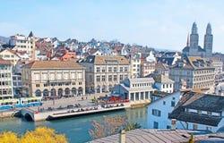 Goce de Zurich vieja fotos de archivo libres de regalías
