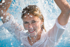 Goce del agua Imagen de archivo libre de regalías