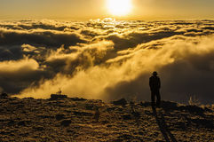 Goce del mar de nubes Imagenes de archivo