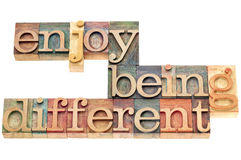 Goce el ser diferente Imagen de archivo libre de regalías