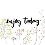 Goce hoy Cita inspirada para el medios contenido social y las tarjetas de motivación