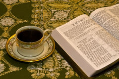 Goce leyendo la biblia Imagenes de archivo