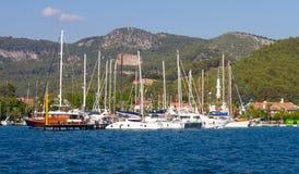 Gocek Marina Royalty Free Stock Photos