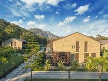 Gocek, Turkije -11 Juli 2017 - van de Premiegocek van Rixos van het Luxehotel de bungalowtoevlucht Stock Foto