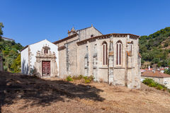 Gocka apsyda Santa Cruz kościół z widokiem barokowego portalu i kaplicy Obraz Stock