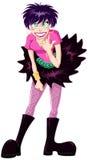 Gocka Teenaged dziewczyna Robi skała znakowi Zdjęcie Stock