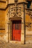 Gocki drzwi Cluny muzeum z kolekcją średniowieczni sztuka artefakty w Paryż, Obraz Royalty Free