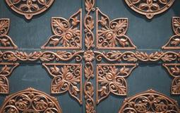 Gocki żelazo ornament Rocznika opancerzony forteczny drzwi Zdjęcia Stock