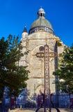 Gocki kościół StCroix w Provins Zdjęcia Royalty Free