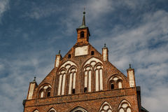 Gocki kościół w historycznym centre Greifswald fotografia royalty free
