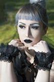 Gocki lolita portret Zdjęcia Royalty Free