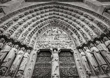 Gocki portal notre dame de paris, Francja Obraz Royalty Free