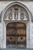 Gocki wejście kościół w historycznym centre Obrazy Royalty Free