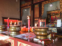 God altar at Chinese temple in Georgre Town, Penang, Malaysia Royalty Free Stock Image