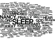God Answered My Prayer With A Song Word Cloud Concept Royalty Free Stock Photography