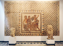 God Bacchus mosaic, Archaeological Museum of Seville, Andalusia, Spain Royalty Free Stock Image