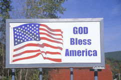 God Bless America. A sign that reads God Bless America Royalty Free Stock Photos