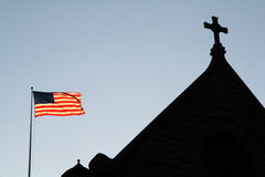 God Bless America. NY Church stock images