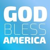God Bless America. Banner on a blue background stock illustration