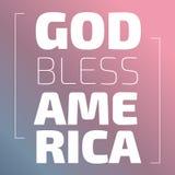 God Bless America. Banner on a pink background vector illustration