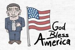 God bless America message. Creative design of God bless America message stock illustration