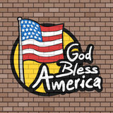 God Bless America message Royalty Free Stock Images