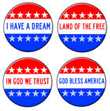 God bless america. And other patriotic messages Stock Photos