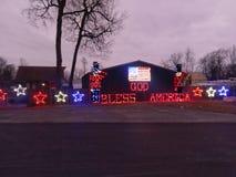 God bless America sign at TPA park. God bless America sign at TPA  park in Frankfort Indiana taken on December 15 2017 Stock Photo