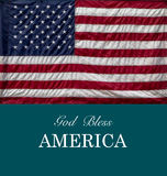 GOD BLESS AMERICA. And US Flag Royalty Free Stock Photography