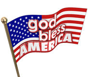 God Bless America USA Flag United States Religion Motto Stock Images