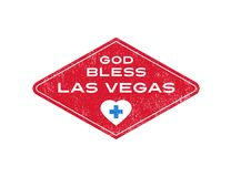 Support for Las Vegas because of mass shooting. God Bless Las Vegas. Response to mass shooting at concert. Support for Las Vegas Royalty Free Stock Image