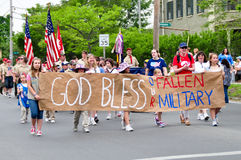 God Bless our Fallen Military Stock Photo