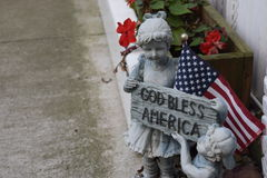 God Bless America. Patriotic GOD bless America figurine Royalty Free Stock Image
