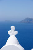God Bless. In Santorini island Greece Royalty Free Stock Photos