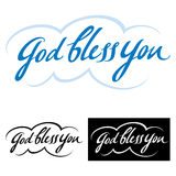 God bless you. Abstract vector word phrase, good wish and blessing stock illustration
