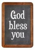 God bless you on blackboard Stock Image