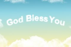 God Bless You - cloud word Royalty Free Stock Photography