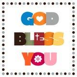GOD BLESS YOU Stock Photos