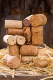 God bless you, mr Bacchus 3. Wine corks on the straw Royalty Free Stock Photo