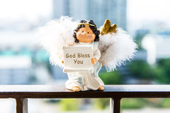 God Bless you. Toy God Bless you on outdoor Royalty Free Stock Photo