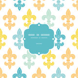 God and blue lily frame seamless pattern Stock Image